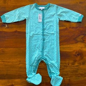 Coccoli Teal Green Onsie New w tags 6 months